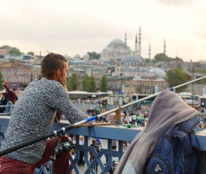 伊斯坦堡钓鱼人之桥 加拉塔桥(Galata Köprüsü)